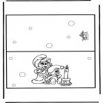 Coloriages Noël - Carte de Noël 12