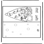 Coloriages Noël - Carte de Noël 15