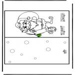 Coloriages Noël - Carte de Noël 16