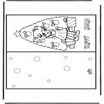 Coloriages Noël - Carte de Noël 17