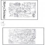 Coloriages Noël - Carte de Noël 2