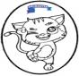 Carte de piquer - chat