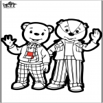 Bricolage cartes de piquer - Carte de piquer - ours brun