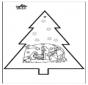Carte de piqûre - Crèche de Noël 3