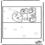 Bricolage coloriages - Carte Dora 2