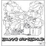 Bricolage coloriages - Carte félicitations 1