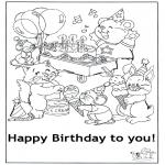 Bricolage coloriages - Carte félicitations 5