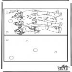 Bricolage coloriages - Carte K3