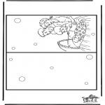 Coloriage thème - Carte naissance 5