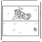 Bricolage coloriages - Carte Noël 10