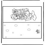 Bricolage coloriages - Carte Noël 11
