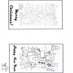 Bricolage coloriages - Carte Noël 2