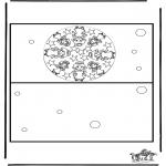 Bricolage coloriages - Carte Noël 3