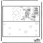 Bricolage coloriages - Carte Noël 4
