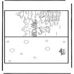 Bricolage coloriages - Carte Noël 5