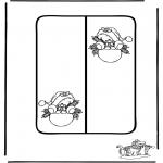 Bricolage coloriages - Carte Noël 8