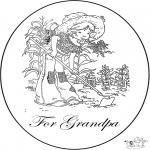 Bricolage coloriages - Carte pour grand-père