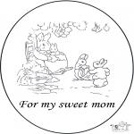 Bricolage coloriages - Carte pour mère
