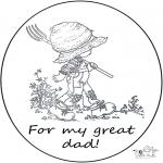 Bricolage coloriages - Carte pour papa
