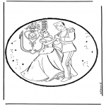 Bricolage cartes de piquer - Cendrillon 3