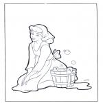 Personnages de bande dessinée - Cendrillon doit nettoyer
