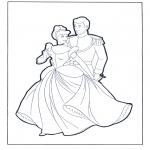 Personnages de bande dessinée - Cendrillon et le prince
