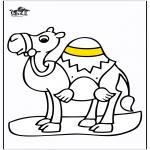 Coloriages d'animaux - Chameau 2