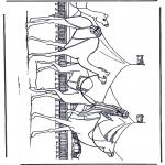 Coloriages d'animaux - Chameaux