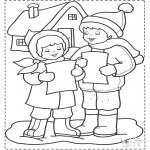 Coloriages hiver - Chants dans la neige 3