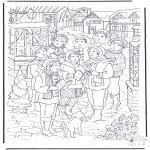 Coloriages Noël - Chants de Noël