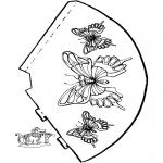 Bricolage coloriages - Chapeau avec papillon 2