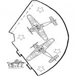Bricolage coloriages - Chapeau Avion