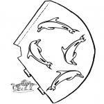 Bricolage coloriages - Chapeau dauphin