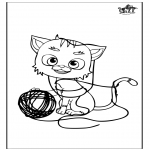 Coloriages d'animaux - Chat 5