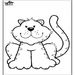 Coloriages d'animaux - Chat 6
