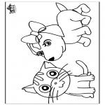 Coloriages d'animaux - Chat et Chien