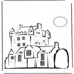 Coloriages faits divers - Château 2