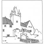 Coloriages faits divers - Château 3