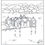 Coloriages faits divers - Château 4