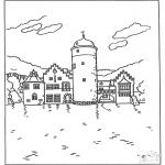 Coloriages faits divers - Château 5