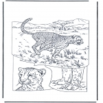 Coloriages d'animaux - Cheetah