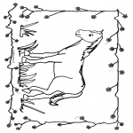 Coloriages d'animaux - Cheval 1