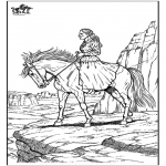 Coloriages d'animaux - Cheval 10