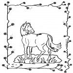 Coloriages d'animaux - Cheval 2