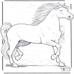 Coloriages d'animaux - Cheval 3