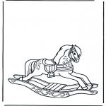 Coloriages pour enfants - Cheval à bascule 1