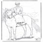 Cheval avec cavalière