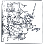 Coloriages faits divers - Chevalier 1