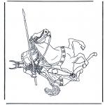 Coloriages faits divers - Chevalier 2