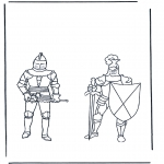 Coloriages faits divers - Chevaliers